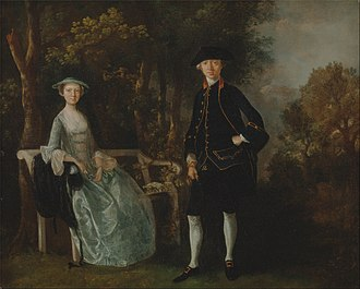 Thomas Gainsborough - Lady Lloyd and Her Son, Richard Savage Lloyd, of Hintlesham Hall, Suffolk (1745–46). At the time, his clientele included mainly local merchants and squires.