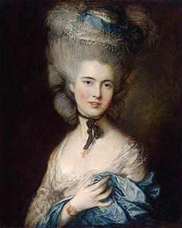 Thomas Gainsborough - Portrait of a Lady in Blue - WGA8414