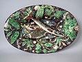 Thomas Sergent Platter, c 1875, coloured glazes, ultra-naturalistic Palissy style.jpg
