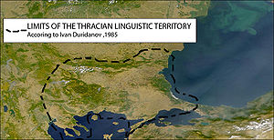 Limits of the Thracian linguistic territory ac...
