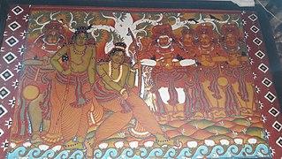 Thriprayar Temple murals
