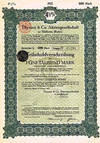 Thyssen AG - Image: Thyssen & Co AG 1922