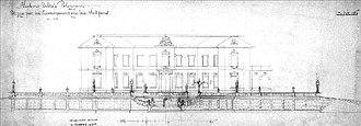 Tiškevičiai Palace, Palanga - The design of the northern façade