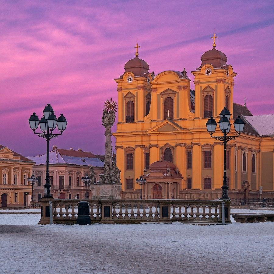 Timisoara - Catholic Dome in Union Square