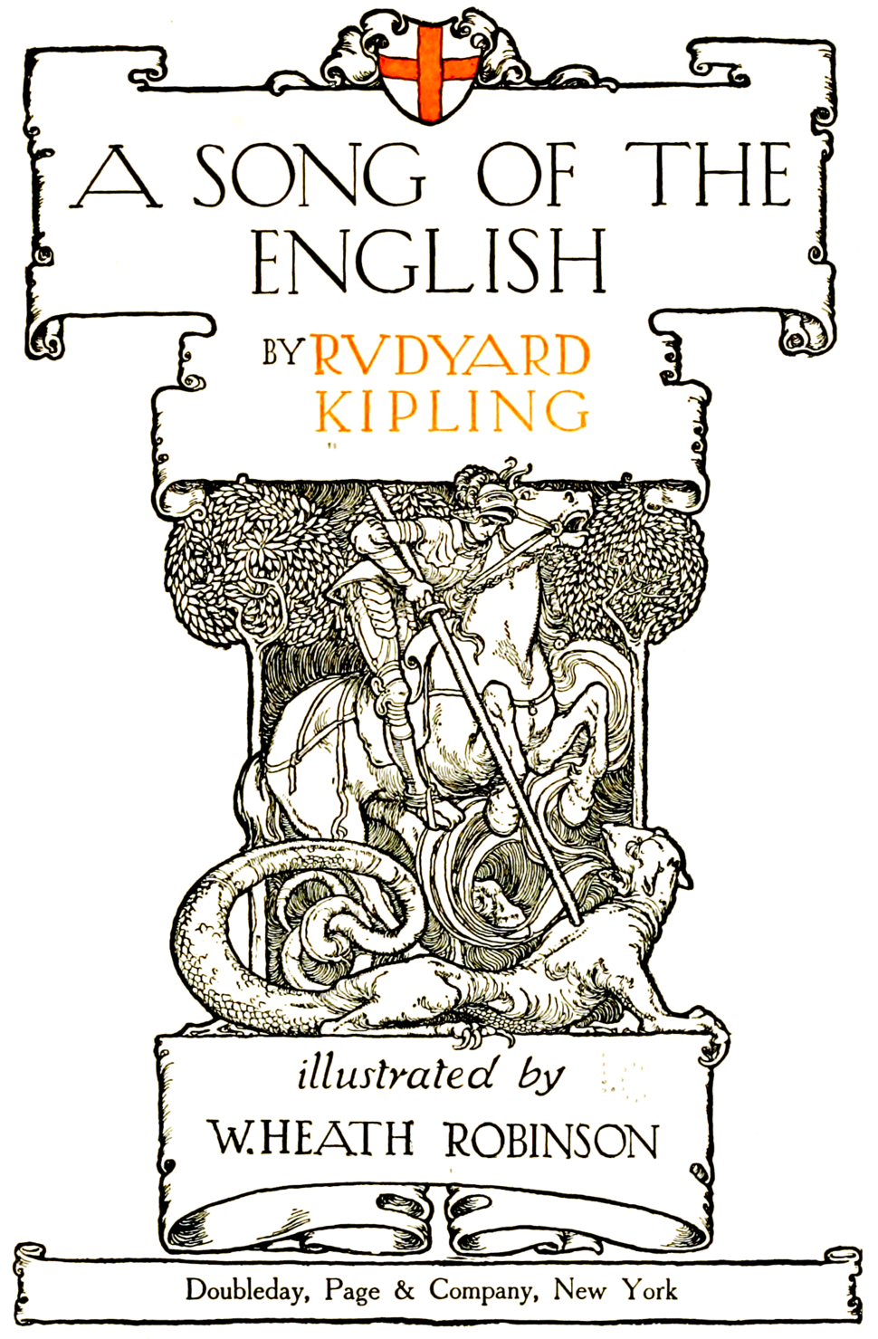 Title design of A song of the English (1909)