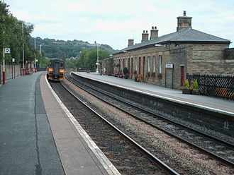 Todmorden railway station - The view from platform 2