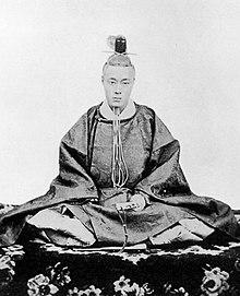 Lo shogun Tokugawa Yoshinobu, nemico di Meiji, nel 1867.