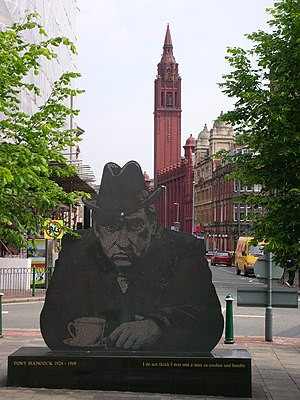 Tony Hancock - Statue in Old Square, Birmingham