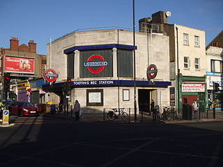 Tooting Bec tube station London Underground station