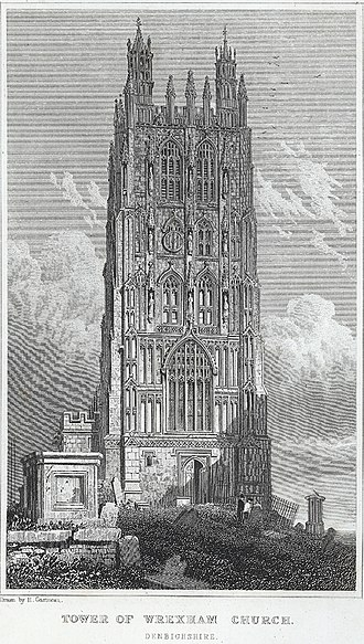 Seven Wonders of Wales - Image: Tower of Wrexham church, Denbighshire