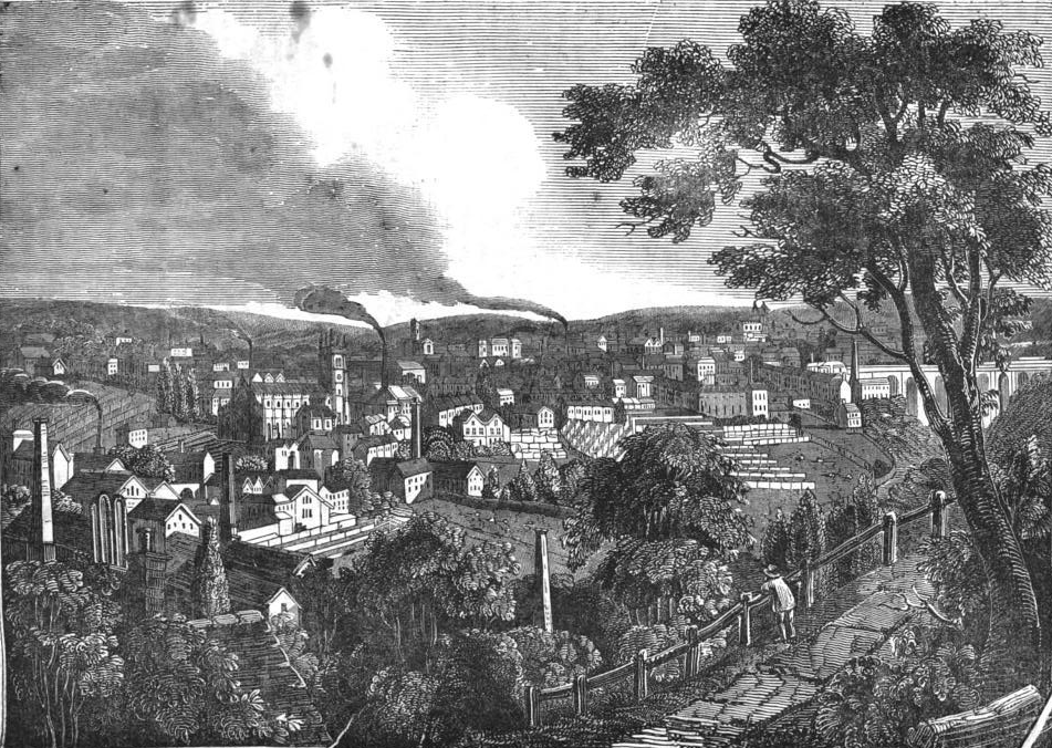 Town of Halifax,Yorkshire,FromPennyMagazineMarch15,1834