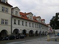 Trčkovský palác (Hradčany), Praha 1, Loretánské nám., Pohořelec, Úvoz 26, Hradčany - pohled od Loretánského náměstí.JPG