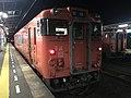 Train for Masuda Station at Nagatoshi Station at night.jpg