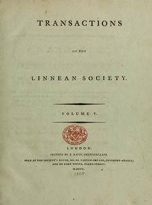 Transactions of the Linnean Society of London, Volume 5 (1800).djvu