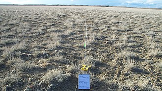 Transect - A transect running across grassland at Gillmore Hill, Wyoming.