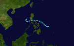 Tropical Storm Milenyo 2002 track.png