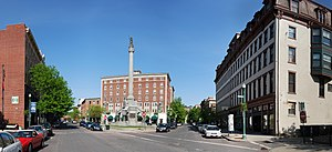 Soldiers and Sailors Monument (Troy, New York) - Panorama of Monument Square.