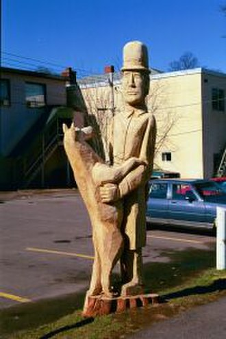 "Truro, Nova Scotia - Truro, Nova Scotia's John W. (Jack) Fraser ""Chief of Police"" 1888 - 1953 commemorated in a tree sculpture"