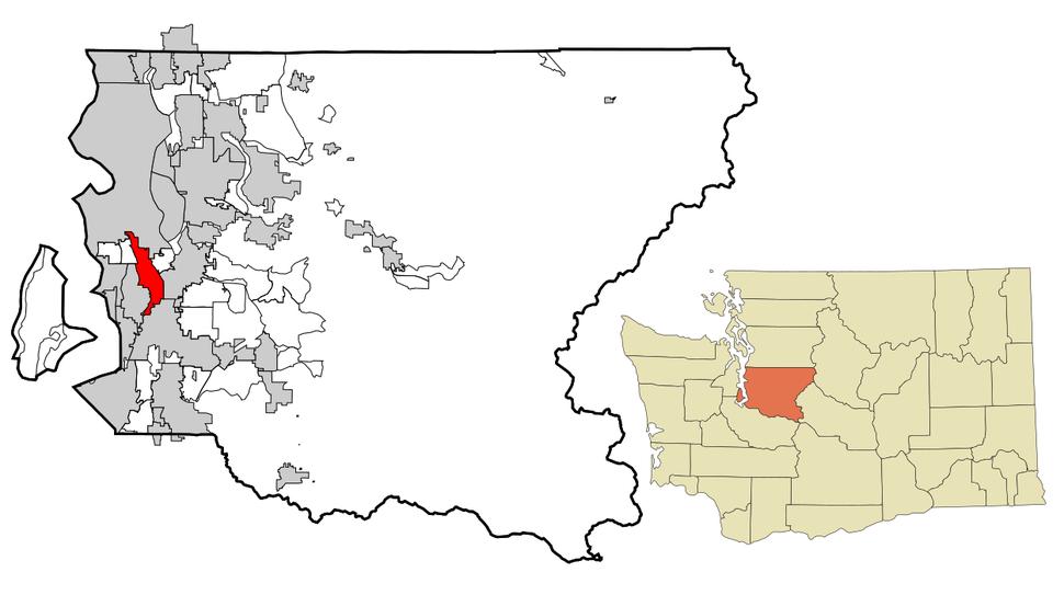 Location of Tukwila, Washington