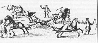 Dismemberment - The execution of Túpac Amaru II, who was dismembered by four horses May 18, 1781.