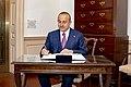 Turkish Foreign Minister Çavuşoğlu Signs Secretary Pompeo's Guestbook.jpg