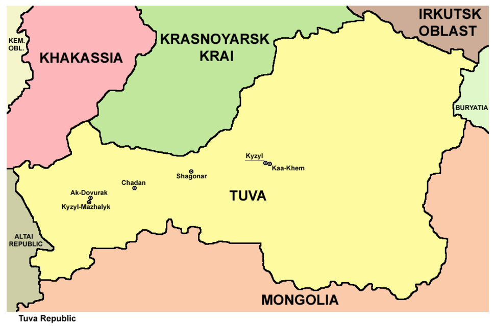 Tuva republic map