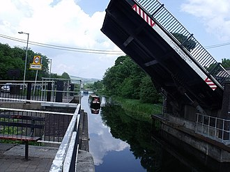 Twechar - Unsafe Twechar Swing Bridge prior to repair