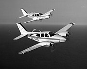 Two Beechcraft 55