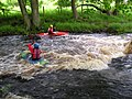 Two kayakers on the Washburn - geograph.org.uk - 225561.jpg