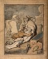 Two men placing the shrouded corpse which they have just dis Wellcome V0010467.jpg