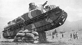 Type 95 Heavy Tank - Type 91, climbing an obstacle