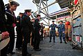 U.S. Sailors assigned to the command ship USS Mount Whitney (LCC 20) teach Bulgarian naval cadets about firefighting during a port visit to Burgas, Bulgaria, Nov. 5, 2013 131105-N-PE825-143.jpg