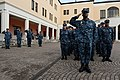 U.S. Sailors stand in ranks during morning colors before a 9-11 memorial ceremony Sept 140911-N-QY759-024.jpg