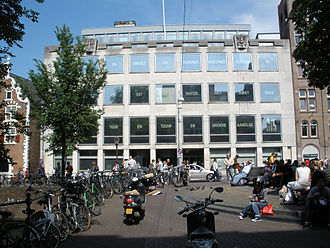 Voetboogdoelen, Amsterdam - The former location of the Voetboogdoelen is now occupied by the main building of the Amsterdam University Library