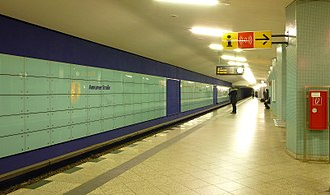 Amrumer Straße (Berlin U-Bahn) - The platform at U-Bahnhof Amrumer Straße