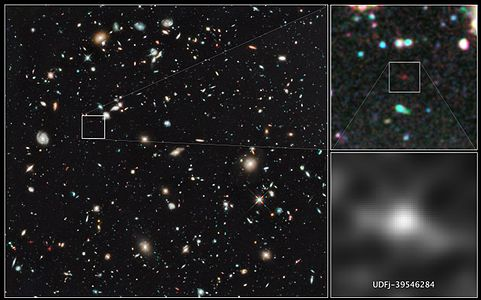 UDFj-39546284, Most Distant Galaxy Candidate Ever Seen in Universe.
