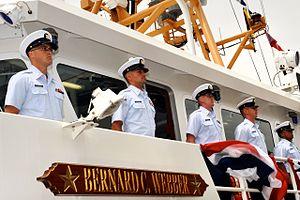 USCGC Bernard C. Webber, manning the rails at her commissioning -a.jpeg