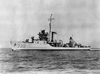 Gridley-class destroyer - Image: USS Gridley DD380