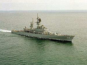 USS England (CG-22) underway at sea on 27 February 1992 (6475939)