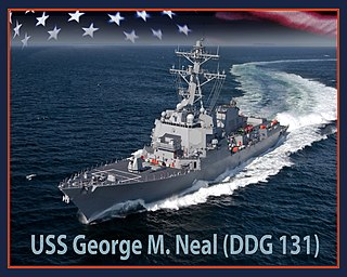 USS <i>George M. Neal</i> Guided missile destroyer