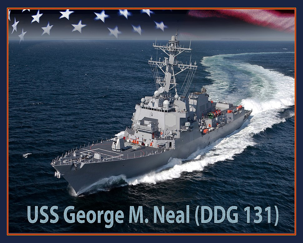 USS George M. Neal (DDG-131) artist depiction
