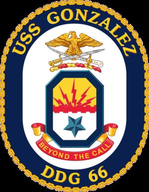 USS Gonzalez - Image: USS Gonzalez DDG 66 Crest