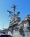 USS Hornet island from pier.jpg