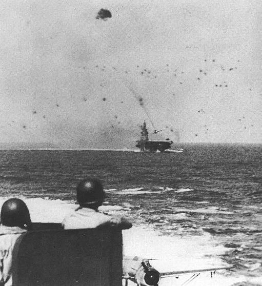 USS Intrepid CV-11 kamikaze strike