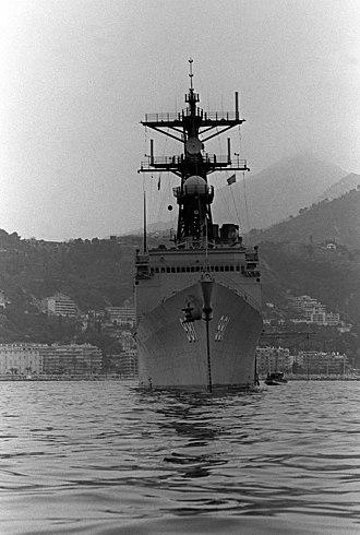 USS John Hancock (DD-981) - Bow view c.1981