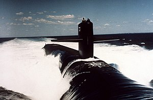 USS Nevada (SSBN-733) underway