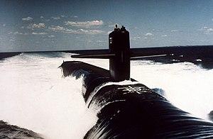 USS Nevada (SSBN-733) underway