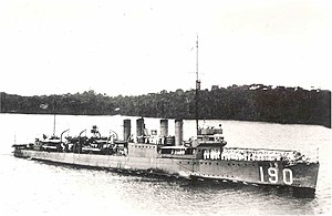 USS Satterlee (DD-190) underway, circa in 1920