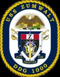 USS Zumwalt DDG-1000 Crest.png