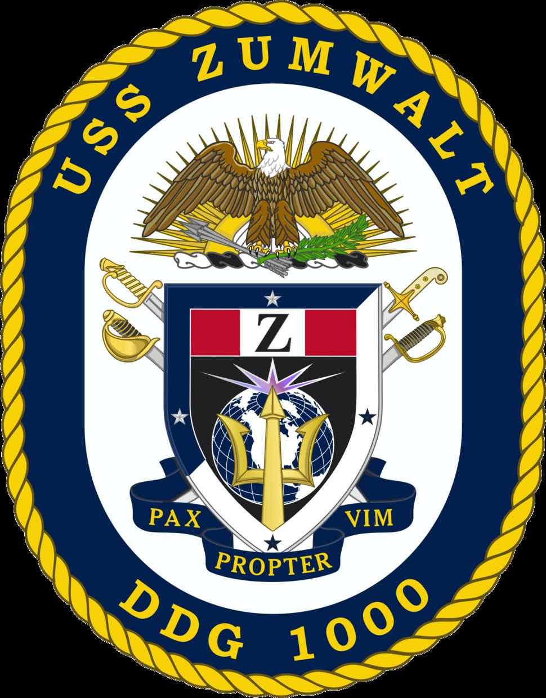 USS Zumwalt DDG-1000 Crest